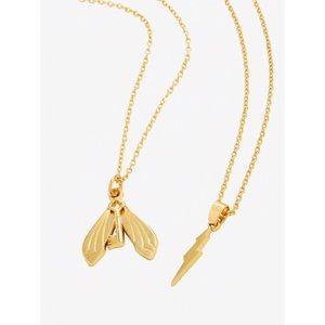 Harry Potter Bolt & Flying Key Set of 2 Necklaces